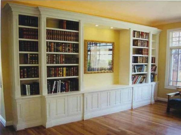Wall Floor to Ceiling Bookshelves