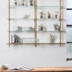Open Metal Shelving Kitchen One Handed Equipment 15 Best Ideas Of Suspended Glass Shelves
