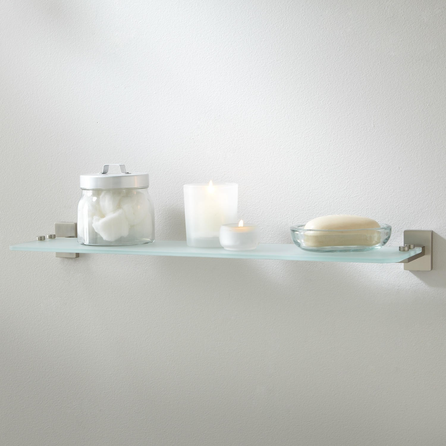12 Inspirations of Frosted Glass Shelves