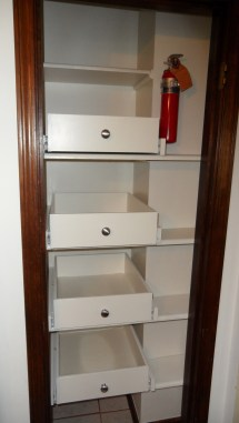 Kitchen Cabinet with Pull Out Pantry Shelves