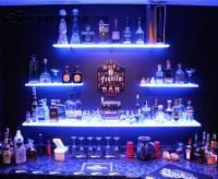 15 Ideas of Floating Glass Shelves for Bar