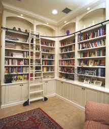 Custom Built Corner Bookshelves
