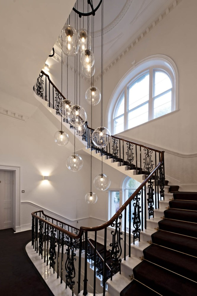 Obviously Over The Top But I Like Idea For Home Inside Stairway Chandelier
