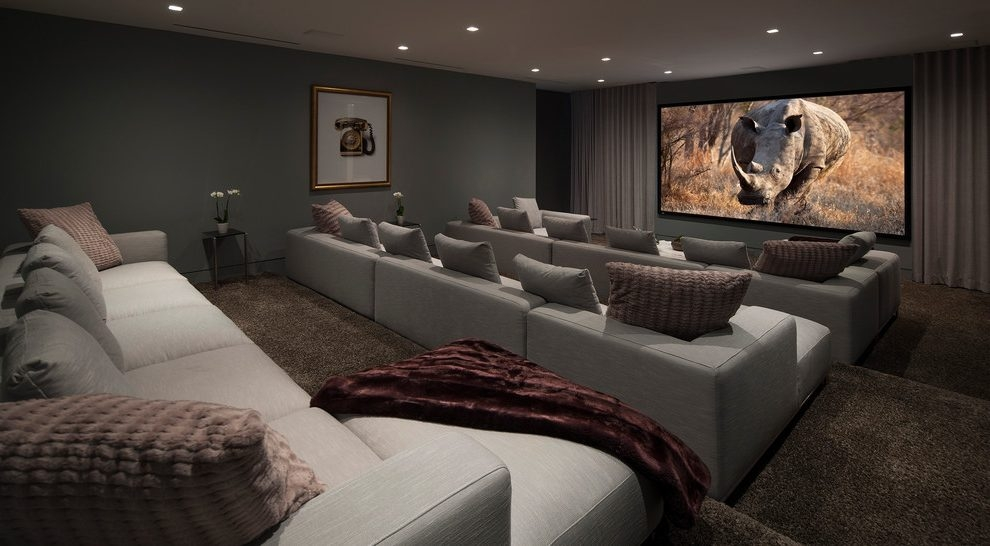 black paint for leather sofa modern brown and beige sectional with recliners 15 best ideas of theater room sofas