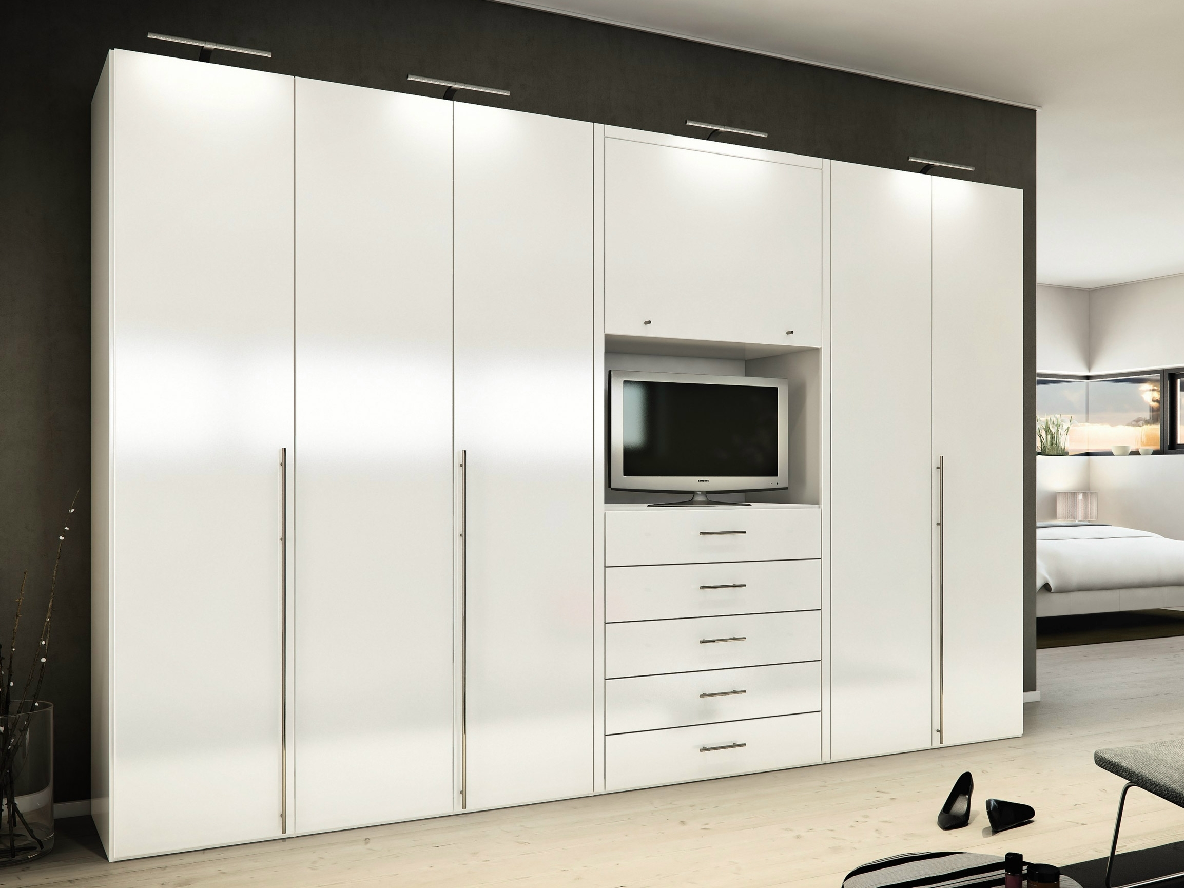 10 Ideas Of Built In Wardrobes With Tv Space