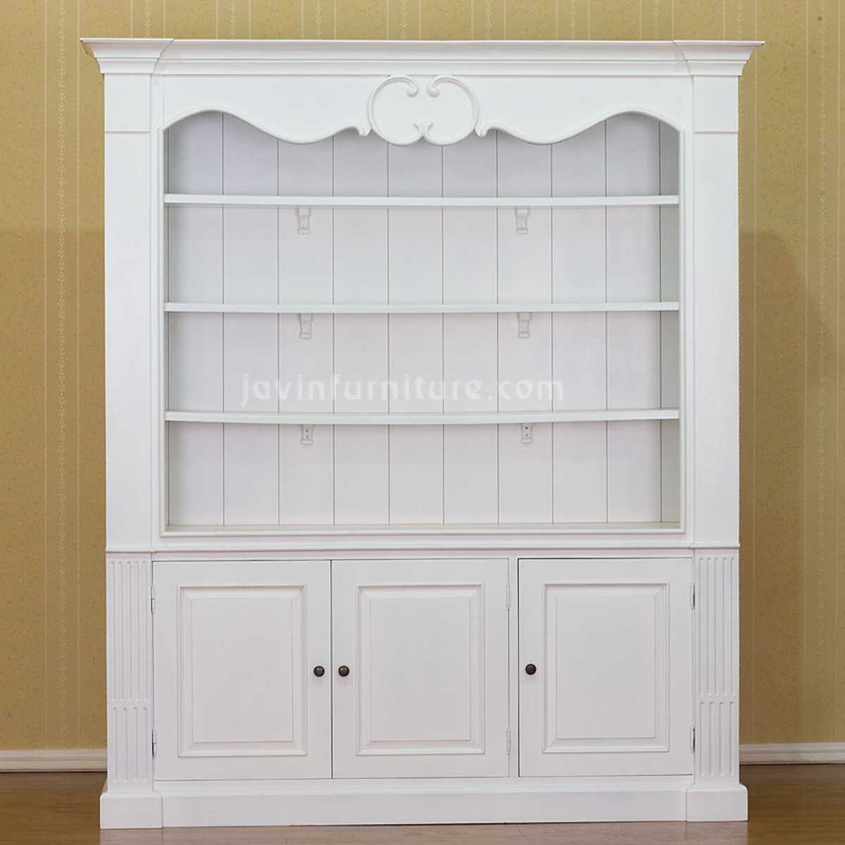 15 Photo of White Bookcase With Cupboard