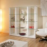 12 Best Ideas of Glass Shelves in Living Room