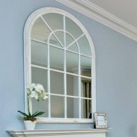 Window Mirror Arched & Arched Wood Shabby Chic Antique