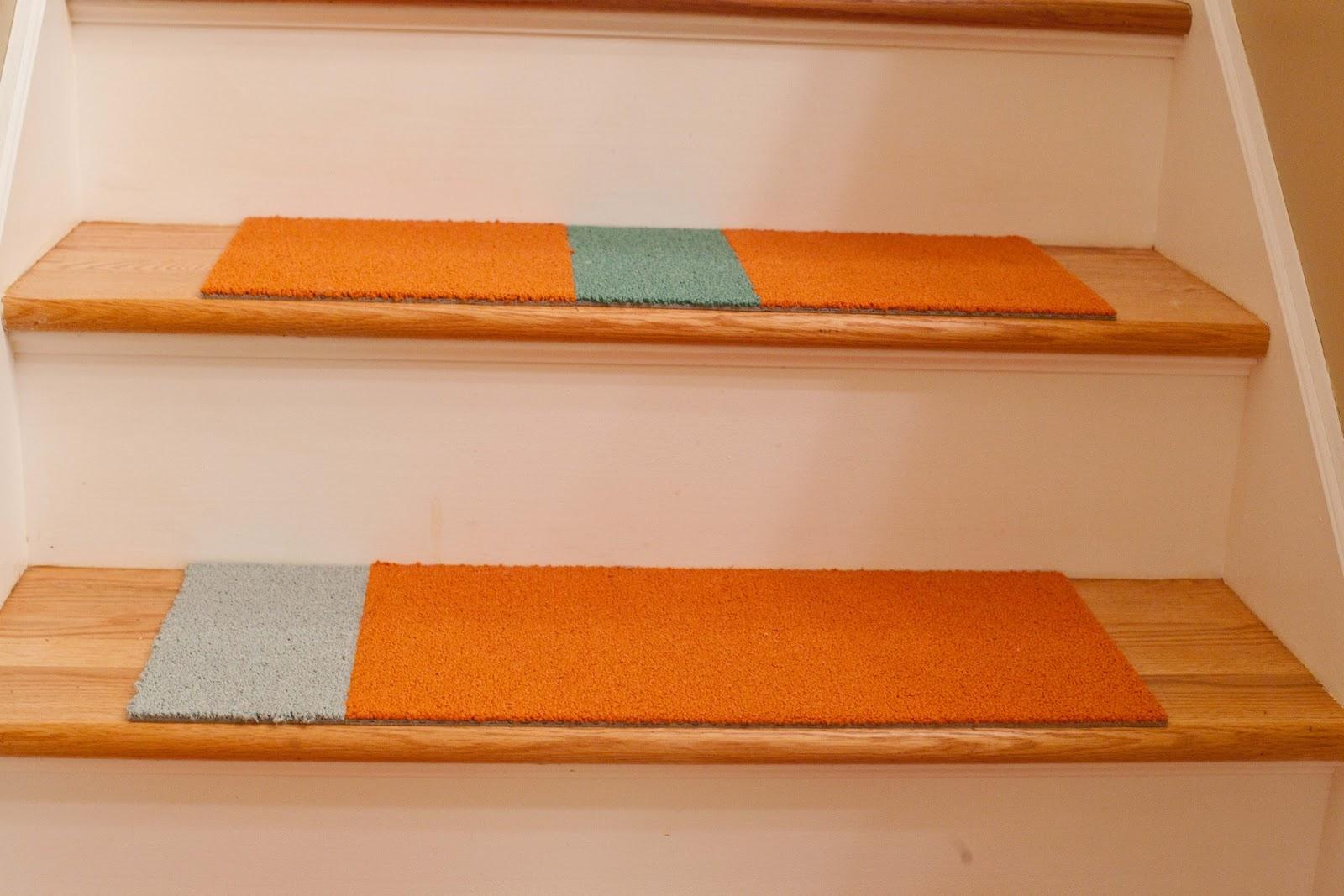 20 Best Ideas of Stair Tread Carpet Tiles