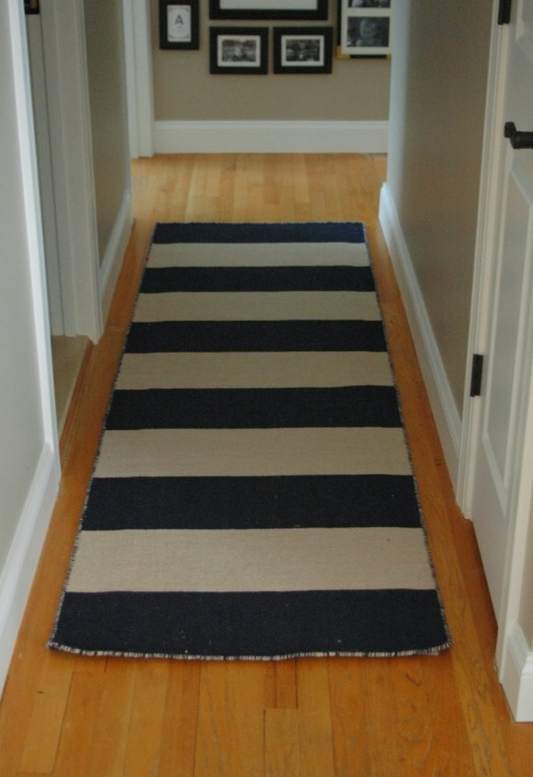 Black and White Hallway Rug Runners
