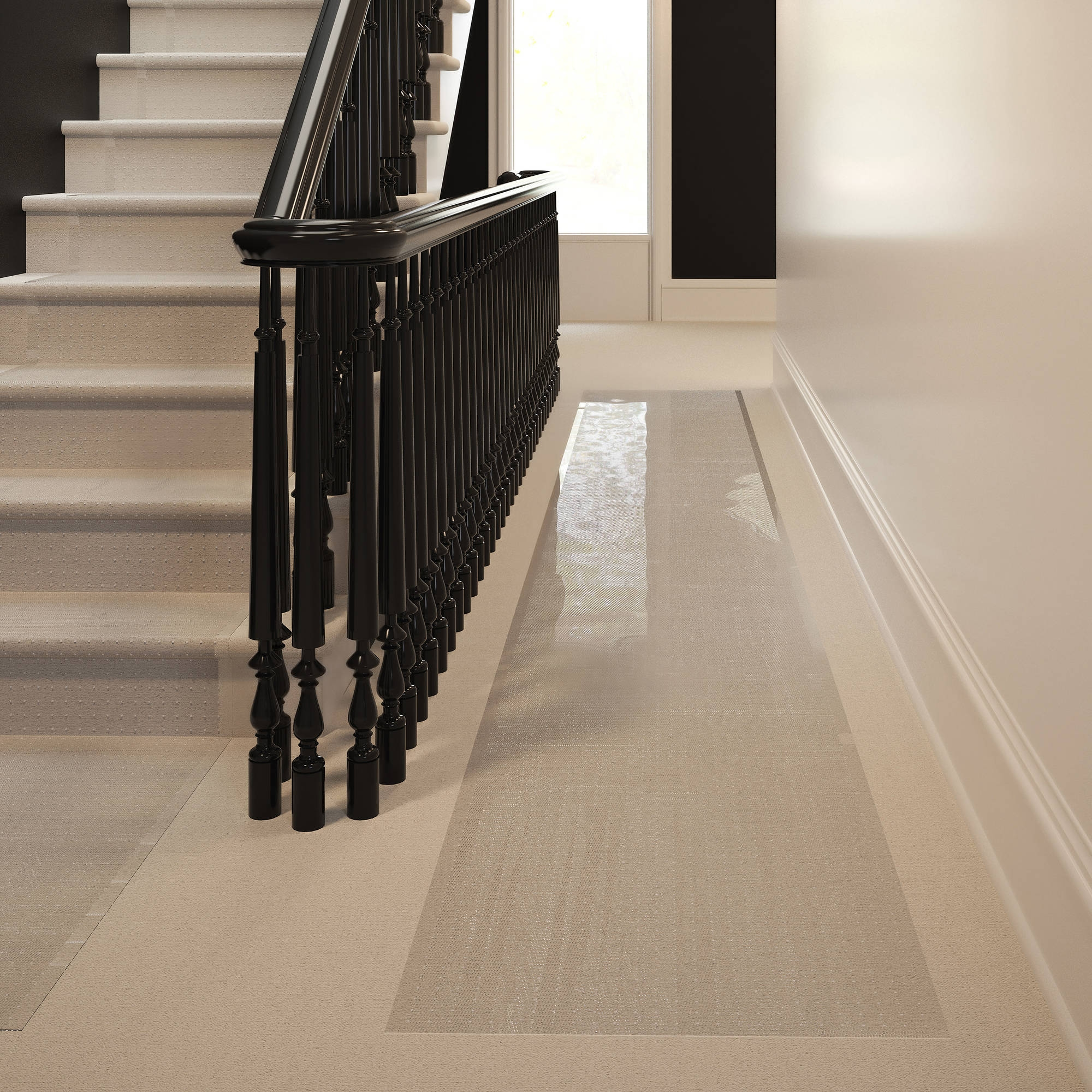 Clear Vinyl Carpet Protector Runner
