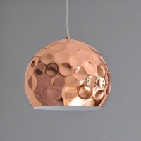 15 Ideas of Hammered Copper Pendant Lights