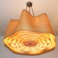 15 Ideas of Wood Veneer Lights Fixtures