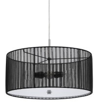 15 Best Collection of Black and White Drum Pendant Lights