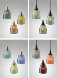 15 Best Ideas of Recycled Glass Lights Fixtures