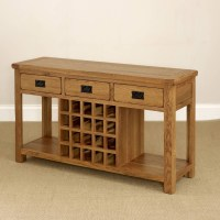 15 Inspirations of Oak Sideboards With Wine Rack