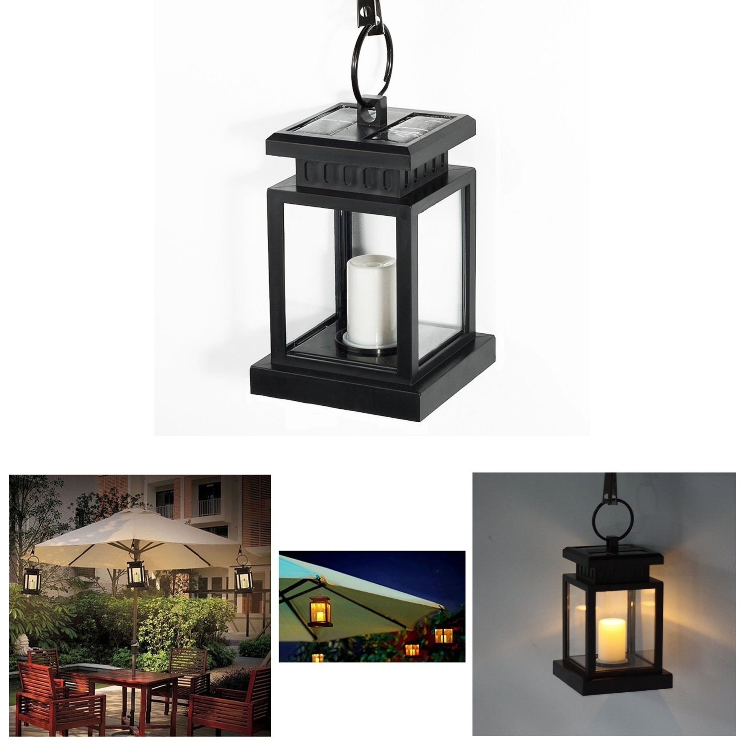 15 Collection of Solar Powered Outdoor Hanging Lanterns