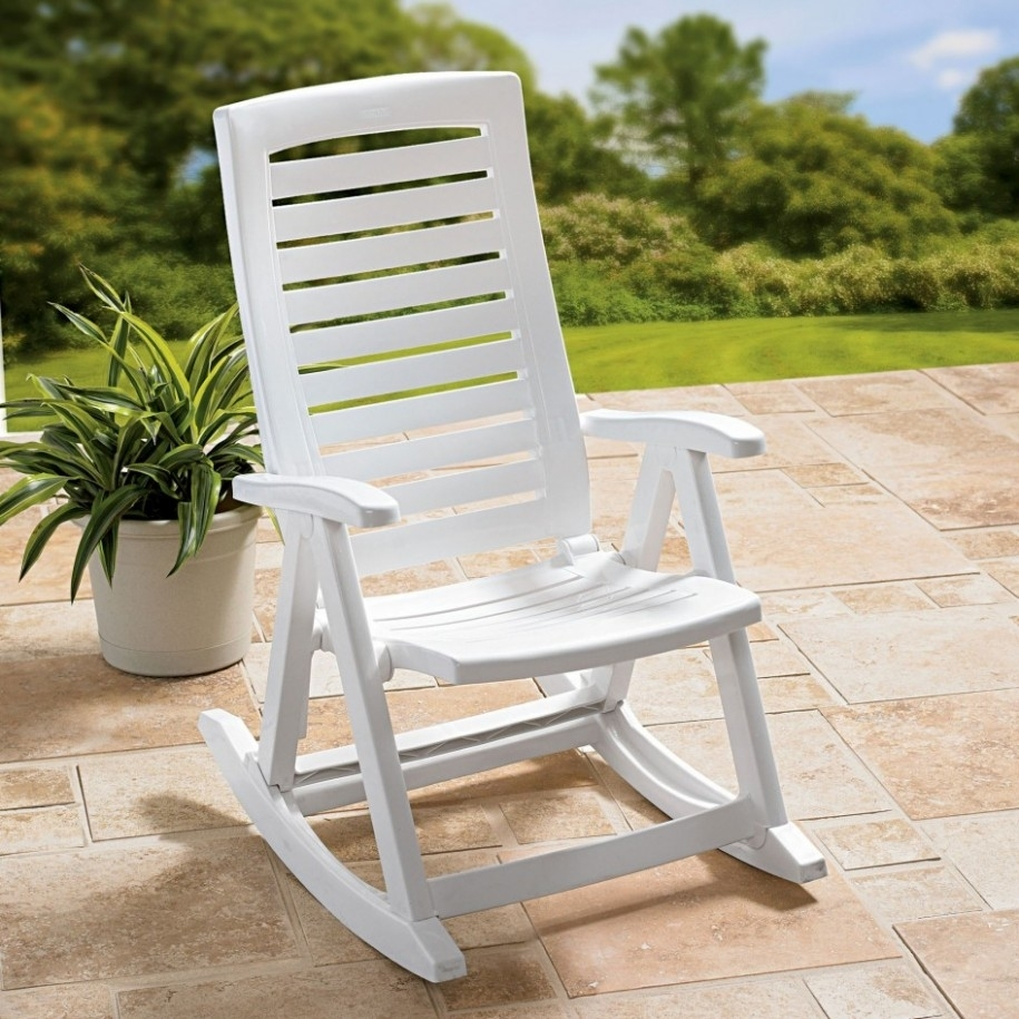15 Ideas of White Resin Patio Rocking Chairs