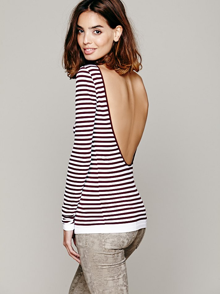 Free People, http://www.freepeople.com/striped-low-back-top/