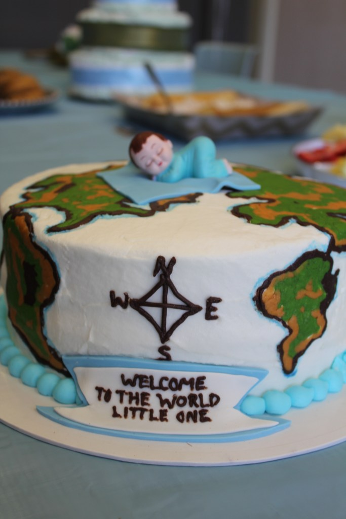 Welcome To The World Baby Shower For A Boy Map Decor Details Globes Amp More Mrs And The Misc
