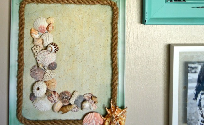 Seashell Monogram Diy Coastal Wall Art Themrsinglink