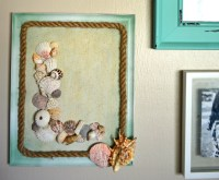 DIY Seashell Monogram Beach Wall Decor | theMRSingLink