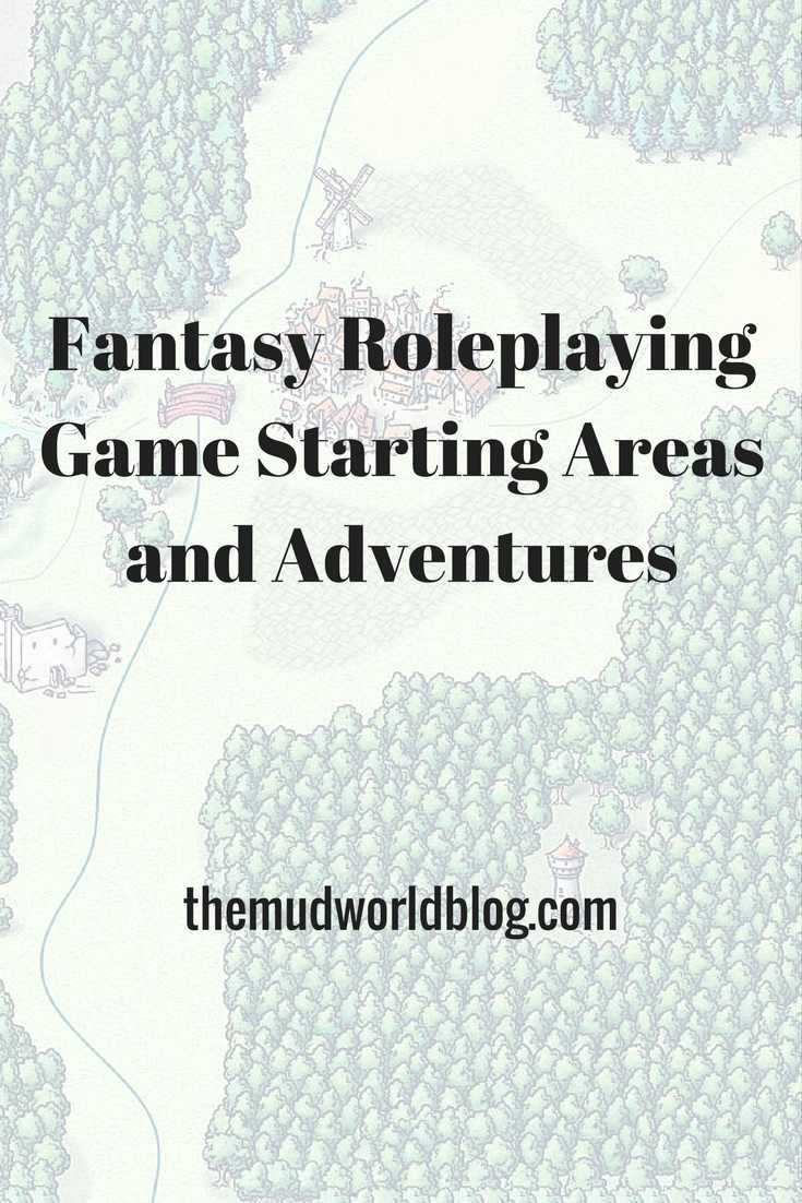 Fantasy roleplaying game starting areas for Dungeons and Dragons, Pathfinder RPG and Fantasy Age.