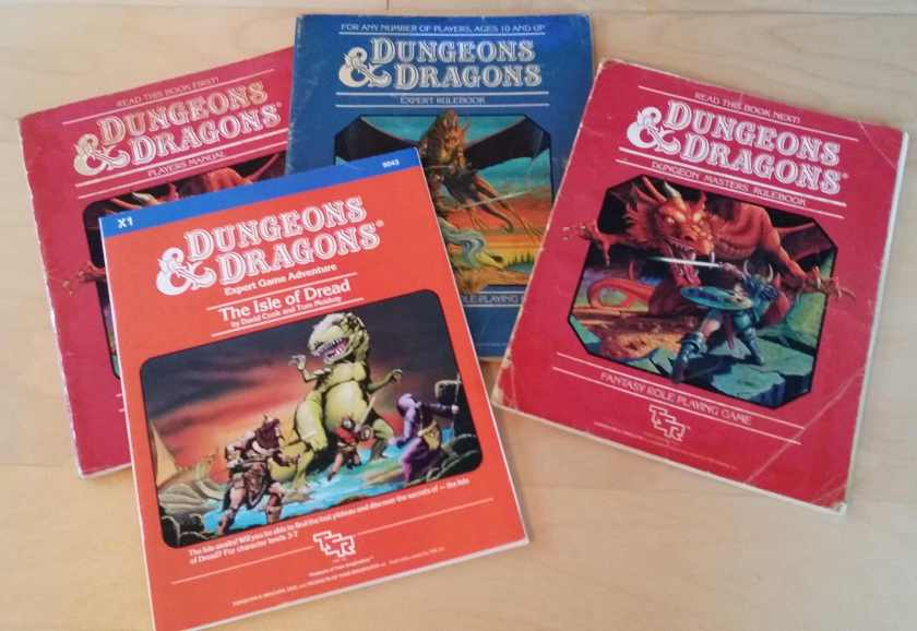 Dungeons and Dragons 1983 version.
