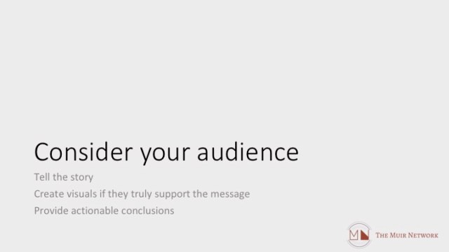 Data Communications consider your audience