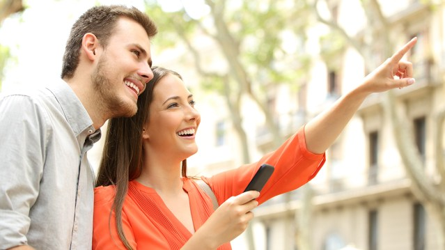 People on a multifamily self-guided tour