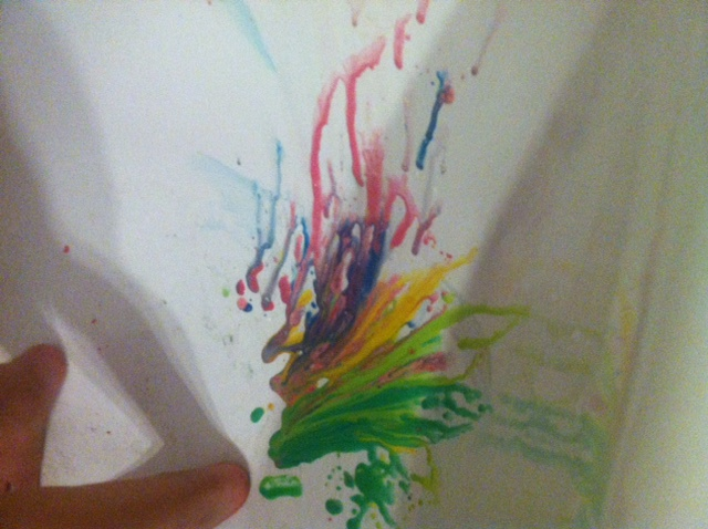 Mess-Free Fun with Bath Paint adventure