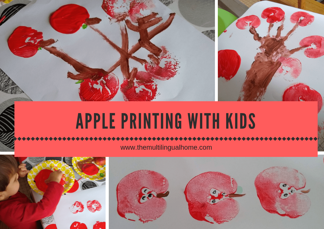 How To Print Apples With Kids
