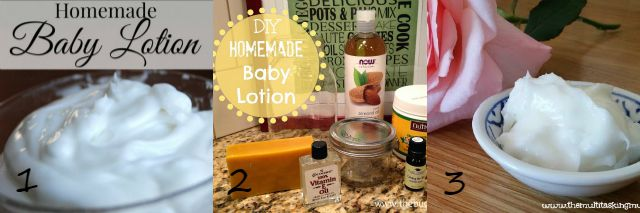 homemade natural baby lotion
