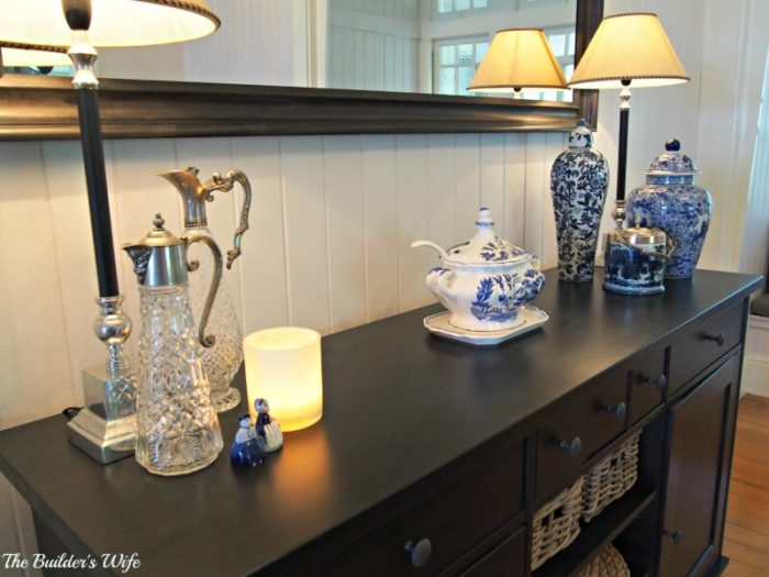 how to style a sideboard