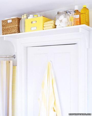 above door bathroom shelf