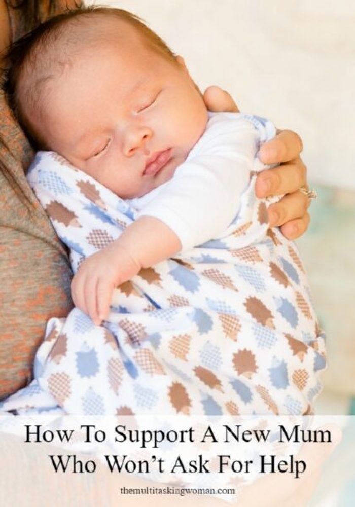 How to Support a New Mum Who Won't Ask for Help Pin