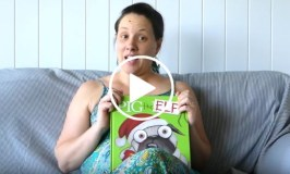 Eva Reads Pig the Elf by Aaron Blabey