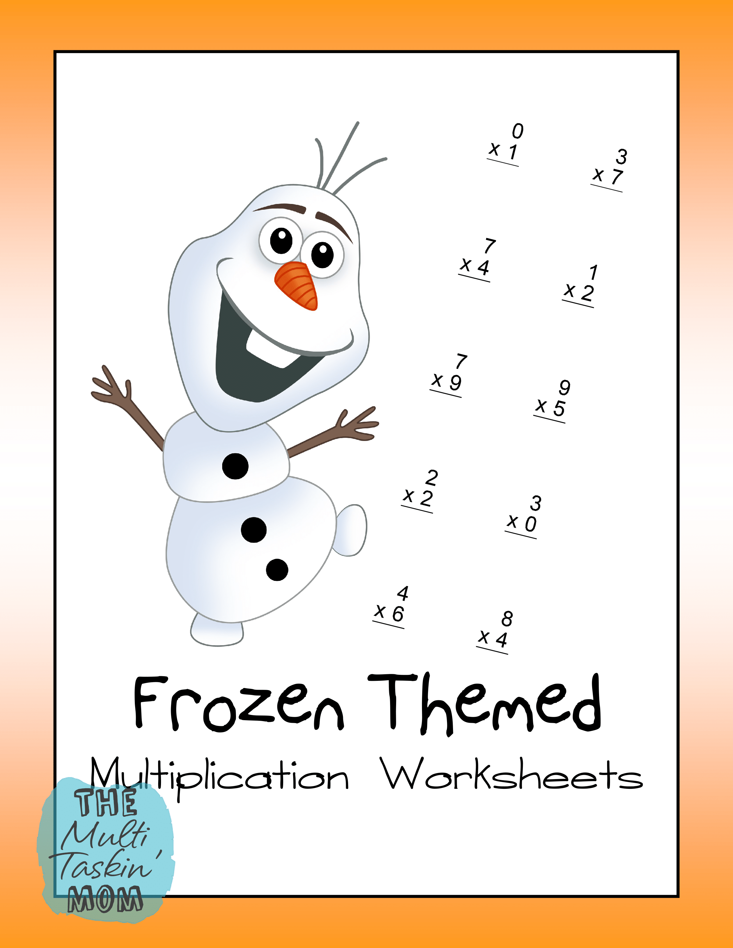 Frozen Themed Math Packs