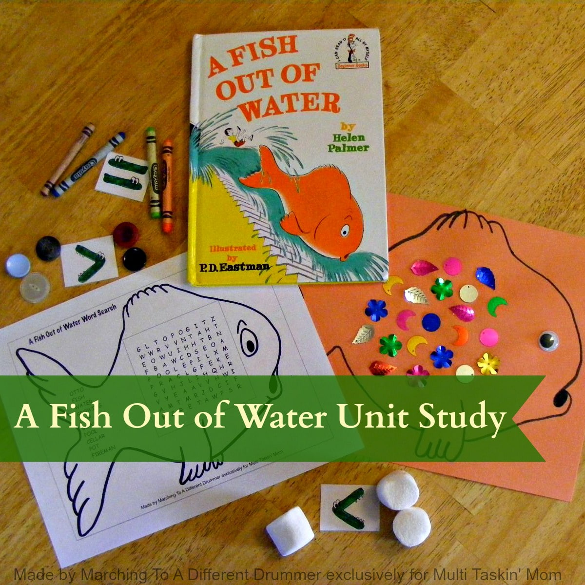 A Fish Out Of Water Pre K Elementary Unit Study