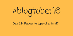 #blogtober16 – Day 11 – Your favourite type of animal