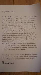 letter from Santa - #ElfotShelf16