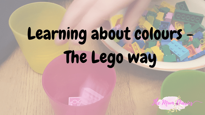 Learning about Colours – The Lego way!