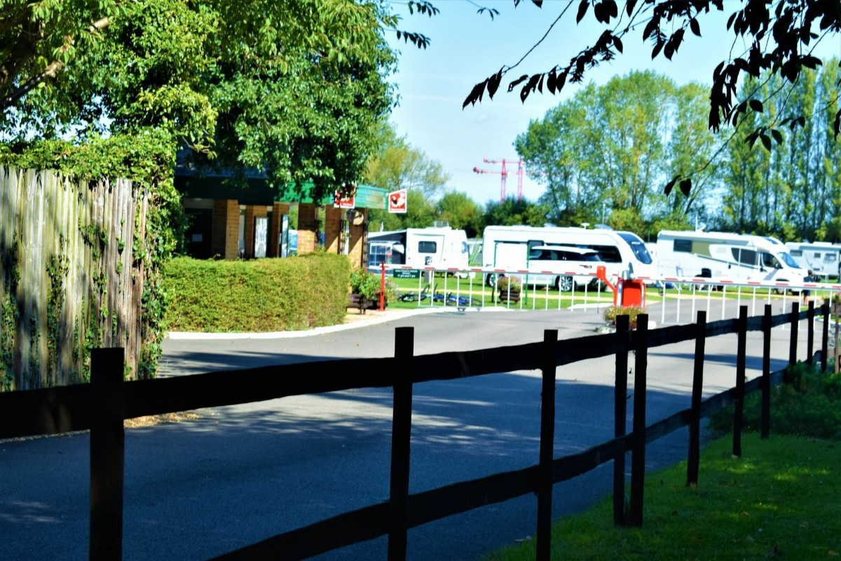 The entrance to Cambridge Camping and Caravanning Club