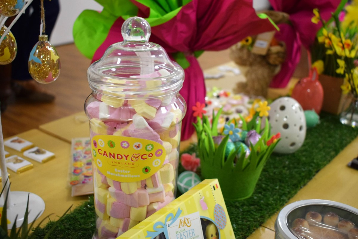 Selection of easter gifts from retailers at Queensgate Shopping Centre