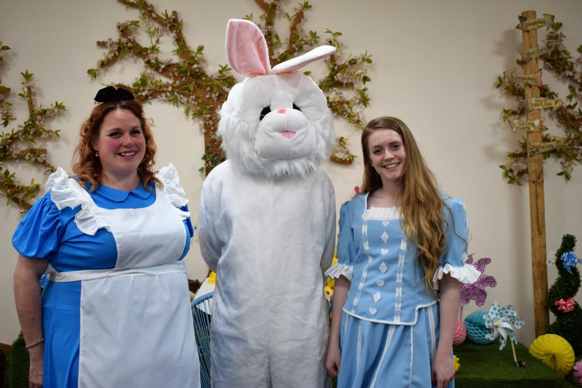 Sally, Emily and the easter bunny Wyevale Garden Centre