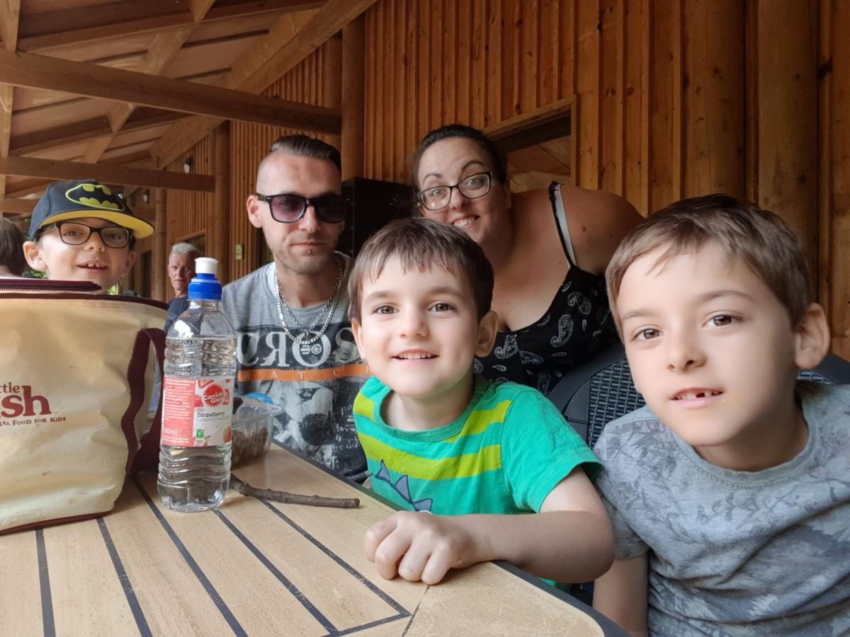 Family photo at Amazona Zoo