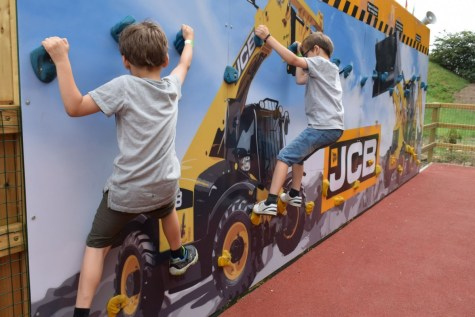 JCB Young Driver's Zone at Springfields Adventureland