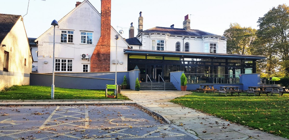 The entrance to YHA York. A Youth Hostel Association place to stay.