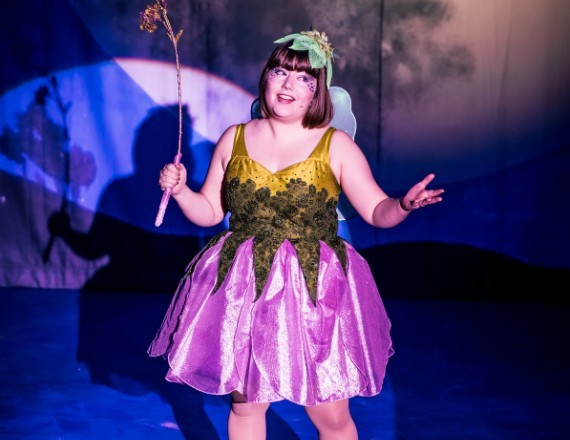 Tinker Bell in Peter Pan Panto at the Key Theatre