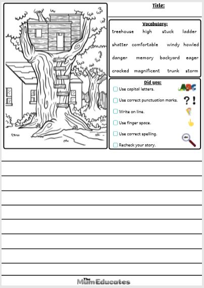 Picture Prompts For Kids : picture, prompts, Picture, Writing, Prompts, Vocabulary, Educates